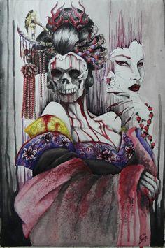 Izanami the Goddess of Creation and Death by PauloAvida