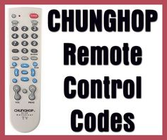 Gmatrix Universal Remote Control A-TV2 TV Remote Codes (Big on ...