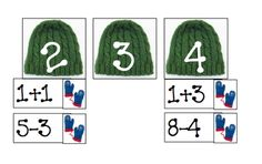 math activity for The Hat and The Mitten by Jan Brett