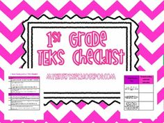 1st Grade TEKS Checklist and Student Tracking List