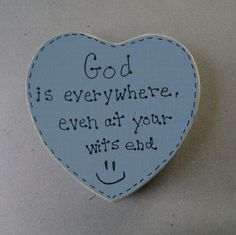 God is everywhere  Christian Inspirational Wall by ifrogcrafts. (and i am soooooooo glad that He is!!!)