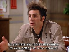 "Cosmo Kramer, usually referred to as simply ""Kramer"", is a fictional character on the American television sitcom Seinfeld Funny Sitcoms, Seinfeld Quotes, Funny Memes, Hilarious, Funny Shit, Funny Stuff, Jerry Seinfeld, Polo Shirt Women, Polo Shirts"