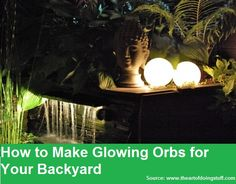 How to Make Glowing Orbs...For more creative tips and ideas FOLLOW https://www.facebook.com/homeandlifetips