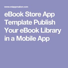 eBook Store App Template Publish Your eBook Library in a Mobile App