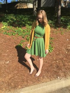 Luck Be a Lady Dress in Fern #mustard #green #fall #mostloved