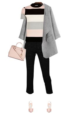 """#1013"" by celida-loves-pink ❤ liked on Polyvore featuring Roberto Cavalli, River Island, Jimmy Choo, Michael Kors, Pink, pinkandgrey and pinkfashion"