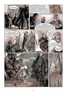 Servitude - by Eric Bourgier, Fabrice David - Comic Strip War Comics, Manga Comics, Comic Book Pages, Comic Books Art, Bd Art, Comic Frame, Story Drawing, Comic Layout, Western Comics