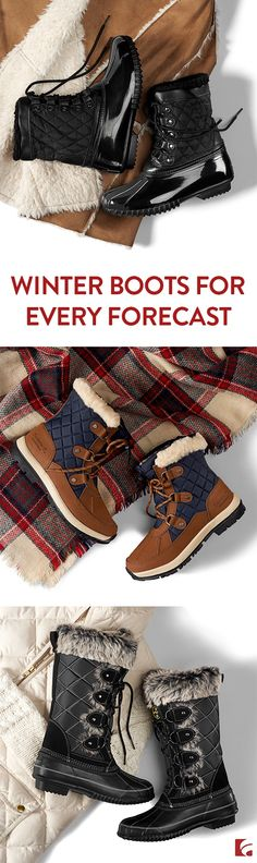 Winter weather in the forecast? No worries. From below freezing temps and powdery snowfalls to wintry mixes and full-blown blizzards, you can count on super warm (and super cute) styles from Bearpaw, Sporto and Khombu.