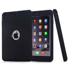 For iPad mini 1/2/3 Cover Retina Kids Baby Safe Armor Shockproof Heavy Duty Silicone + pc Hard Case Cover For ipad mini2 Case