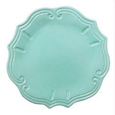 VIETRI: Incanto Aqua Baroque Dinner Plate[#INC-1100C-AQ](Retail only)