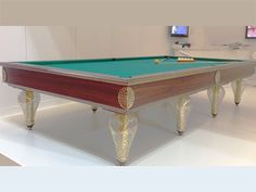 Gold Glass Billiard Table