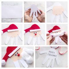 Christmas do-it-yourself - the best ideas for Christmas and winter holidays Handmade Christmas Decorations, Diy Christmas Cards, Christmas Ornaments, Noel Christmas, Diy And Crafts, Crafts For Kids, Toddler Crafts, Winter Holidays, Diy Tutorial