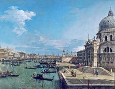 Canaletto - The entrance to the Grand Canal and Santa Maria...