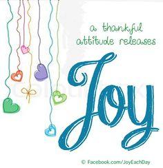 Joy quote via www.Facebook.com/JoyEachDay