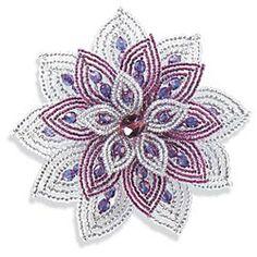 Beaded-Venetian-Floral-Brooch, Una Alla Volta