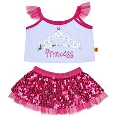 Fuchsia Sequin Princess Skirt Outfit 2 pc. - Build-A-Bear Workshop US