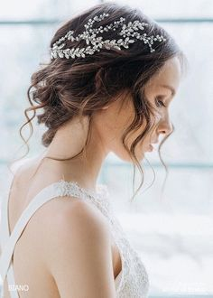 Add brilliance to your special day with this sparkling wedding headpiece featuring rhinestones in a cluster design. This stunning rhinestones Hairpiece includes 3 elements which you can arrange in depend on your hairstyle. Is perfect for the bride, bridesmaids, prom, or any special occasion! This delicate piece of jewelry is stunningly accented with pearls, crystals and Swarovski rhinestones spray that highlight the hairstyle with elegance and glamour.