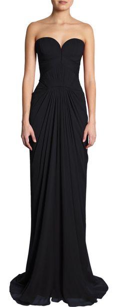 J. Mendel Sweetheart Bodice Gown at Barneys.com