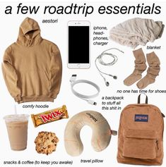 Essentials - Live - Road Trip Essentials - Live -Road Trip Essentials - Live - Road Trip Essentials - Live - cute outfits aesthetic best outfits, and breaking out rip - SHOETIME: Doughnut doughnut rucksack Macaroon macaroon backpack day pack men Lady's Roadtrip Tips, Travel Packing Checklist, Travel Bag Essentials, Road Trip Essentials, Road Trip Hacks, Travelling Tips, Beauty Essentials, Travel Tips, Traveling