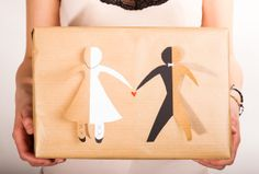 Hochzeitsverpackung #wedding #gift #wrap #selfmade #doityourself #diy