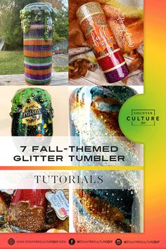 We are sharing 7 fall themed glitter tumbler tutorials that we absolutely love! Learn how to make these fabulous fall tumblers for yourself! A Pumpkin, Pumpkin Spice, Warm Apple Cider, Fall Staples, Go Pink, Fall Drinks, Autumn Cozy, Good Enough To Eat, Tumbler Designs