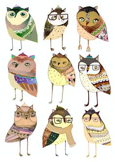 When Owls Take Over Limited edition art print by by AshleyPercival, $50.00