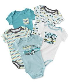 Calvin Klein Baby Boys' 5-Pack Logo Bodysuits - Kids & Baby - Macy's Little Babies, Cute Babies, Baby Kids, Baby Baby, Baby Boy Outfits, Kids Outfits, Baby Aspen, Cute Baby Shoes, Kids Fashion Boy