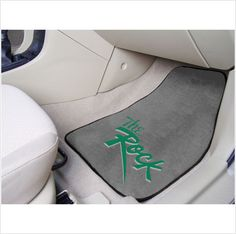 SLIPPERY ROCK UNIVERSITY .. Don't leave your school spirit at home...take it on the road with the NCAA carpeted car mats from Fanmats! Protect your vehicle's flooring while showing your team pride with car mats by FANMATS. 100% nylon face with non-skid vinyl backing. Universal fit makes it ideal for cars, trucks, SUVs, and RVs