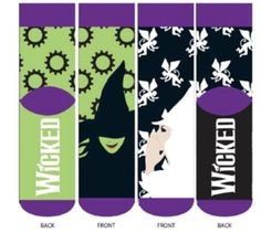 - Wicked the Musical - Socks - Wicked Musical, Broadway Wicked, Musical Theatre, Broadway Shows, Birthday Celebration Quotes, Celebration Background, Celebration Around The World, Cute Socks, Musicals