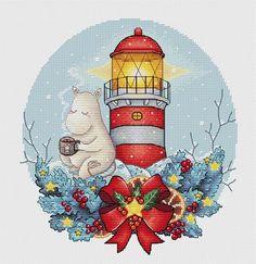 Baby Event, Fantasy Cross Stitch, Dmc Floss, Back Stitch, Christmas Cross, Counted Cross Stitch Patterns, Lighthouse, Needlework, Nursery