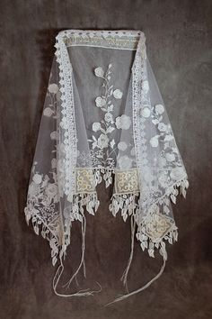 Queen Esther Hair Covers offer an elegant line of handmade white bridal lace wedding shawls and embroidered bat mitzvah shawls. Jewish Wedding Ceremony, Wedding Chuppah, Our Wedding, Dream Wedding, Wedding Shawls, Wedding Dress, White Bridal, Bridal Lace, Jewish Wedding Traditions