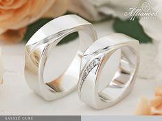 Sasszé Cube – karikagyűrű pár
