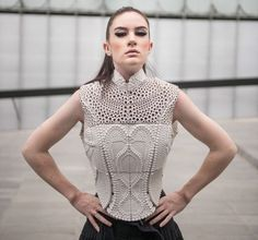 3D Printed Top Inspired By The Electrolysis of Water - Design Milk