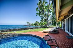 Here's our new home called Hale Pua in Kailua-Kona Hawaii that's available for rent -- GREAT for family gatherings or four couple getaway!  I'll be posting more pix . . .  VRBO.com! #vacation #rental #travel #vrbo  VRBO Listing #469791