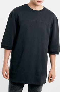 Topman Cropped Sleeve Knit Sweatshirt available at  Nordstrom Collegetröjor  Herrar 00b62c3945836