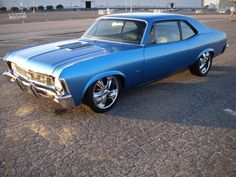 Custom 1969 Chevrolet Nova SS Coupe,396 STROKED TO 468/540hp V8, 5-speed Tremec, transmission.Two stage PPG paint Marina Blue.