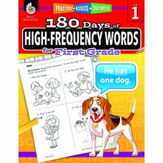 180 Day High Freq Words Gr1 Workbk