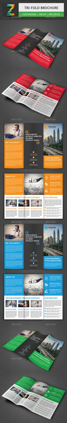 Tri-fold Business PSD Brochure  Template • Only available here ➝ http://graphicriver.net/item/trifold-business-brochure/16528407?ref=pxcr