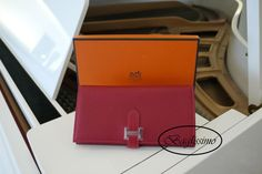 Rouge Casaque Hermès Bearn Wallet @ http://baglissimo.weebly.com
