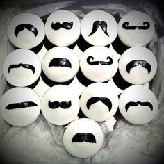 #Moustache cupcakes. Nom nom.