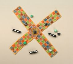 Portable Pachisi craft at Crayola's website  Board game Ancient India unit