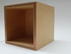 ODDBOX 2 Orange acrylic sandwiched between birch ply, backlit with LED light…