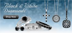 black and white jewelry.