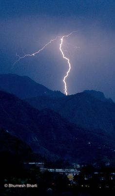 lightning in doon valley by bhumeshbharti