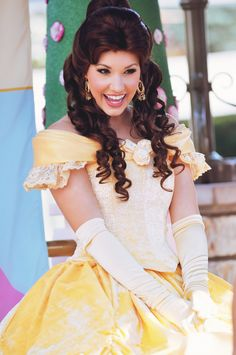 Meanwhile at Disneyland, Belle got her redesign look. I prefer this over the bulky, tacky yellow dress.