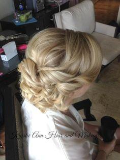 Hair: www.krystieann.com  Bridal hair, wedding hair, bridesmaid hair, updo, elegant hair, punta cana wedding, beach wedding, destination wedding, melia caribe resort