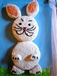 Bunny rabbit cake - from the Australian women's weekly book. My Mum made me this cake for one of my birthdays.