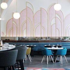 Restaurant Design, Decoration Restaurant, Deco Restaurant, Luxury Restaurant, Restaurant Kitchen, Industrial Restaurant, Hotel Decor, Design Hotel, Vintage Interior Design