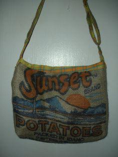 recycled potato bag