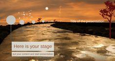 Gorąca noc na sawannie jako nowe tło do Twojej nowej prezentacji Prezi. Niesamowita kolorystyka barw nadaje tajemniczości i zachęca do śledzenia dalszej części prezentacji. Dopasuj ten szablon Prezi do potrzeb Twojej prezentacji. Zobacz więcej na www.ziload.com